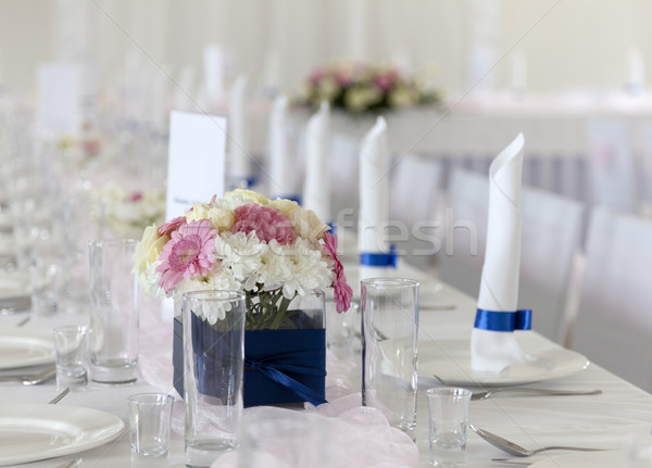 Boda mesa ramo flores flor fiesta Foto stock © sqback
