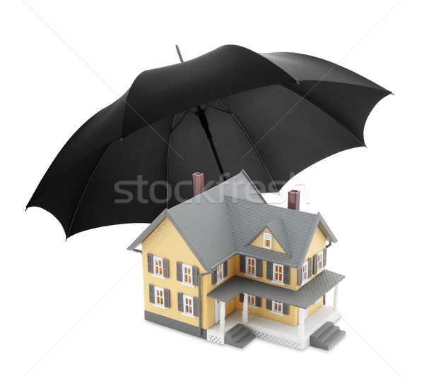 Bezpieczne domu bezpieczeństwa architektury nieruchomości bezpieczeństwa Zdjęcia stock © sqback