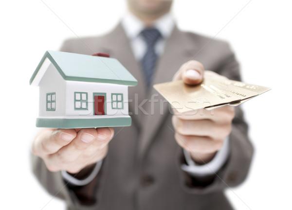 Onroerend ondiep business gebouw model Stockfoto © sqback