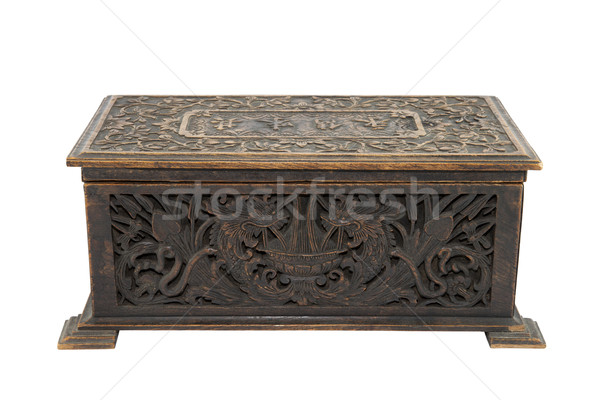 Velho antigo caixa peito caso Foto stock © sqback