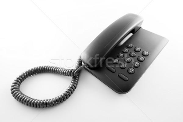 Preto escritório telefone telefone Foto stock © sqback
