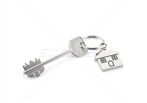 Ev anahtar beyaz Bina inşaat Stok fotoğraf © sqback