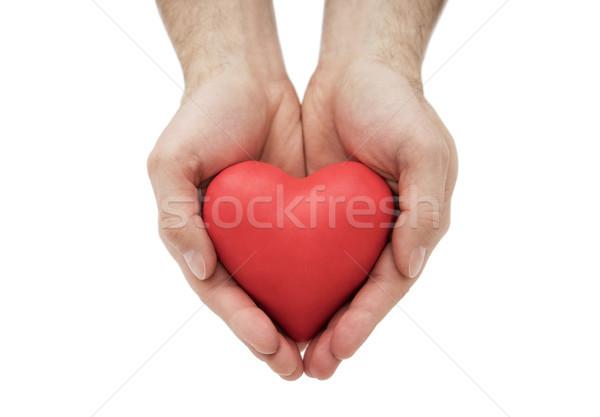 Piros szív kezek egészségbiztosítás szeretet orvosi Stock fotó © sqback