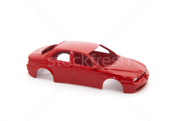 Red toy car body on white background Stock photo © sqback