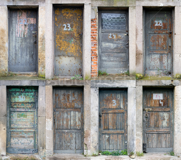 Collection of old wooden doors Stock photo © sqback