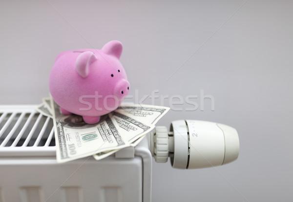 Salvadanaio americano dollari radiatore energia Foto d'archivio © sqback