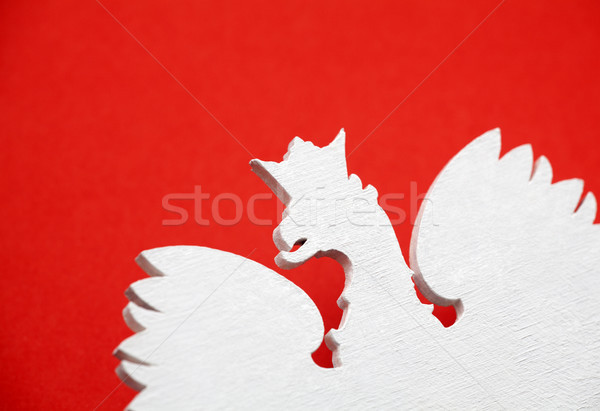 Polish coat of arms on red background  Stock photo © sqback