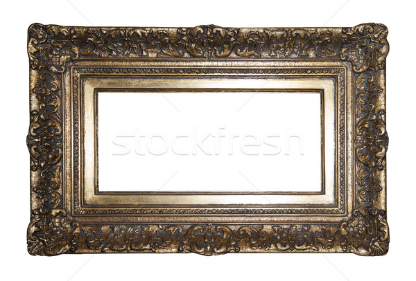 Old gilded picture frame with clipping path Stock photo © sqback