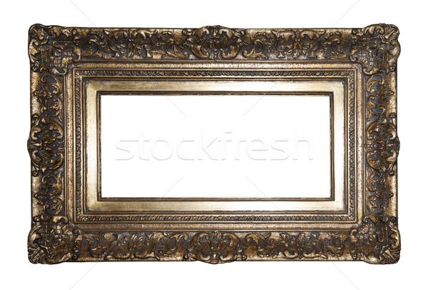 Eski yaldızlı resim çerçevesi Metal boyama Stok fotoğraf © sqback