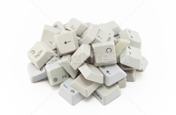 Bilgisayar tuşları yalıtılmış beyaz web mektup Stok fotoğraf © sqback