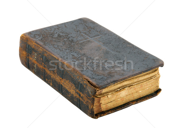 Eski kitap İncil Retro deri antika Stok fotoğraf © sqback