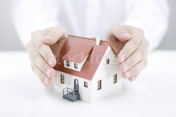 Ev iş inşaat ev güvenlik Stok fotoğraf © sqback