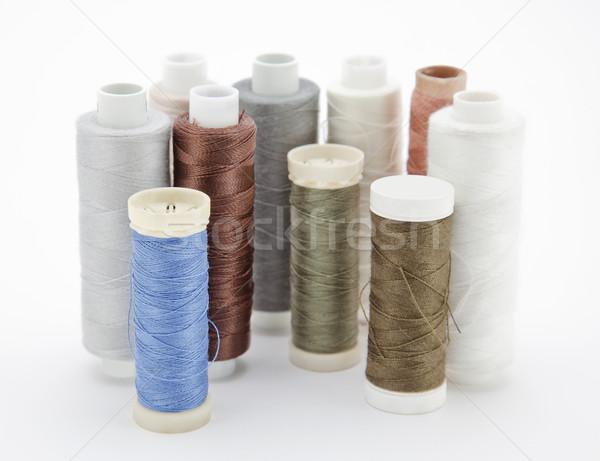 Fio tecido cores corda macro brilhante Foto stock © sqback