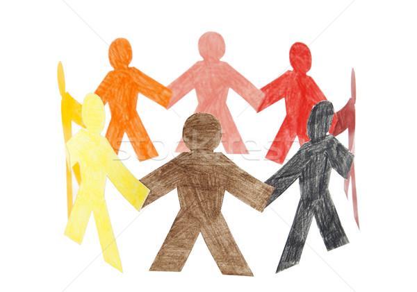Círculo colorido personas familia papel Foto stock © sqback