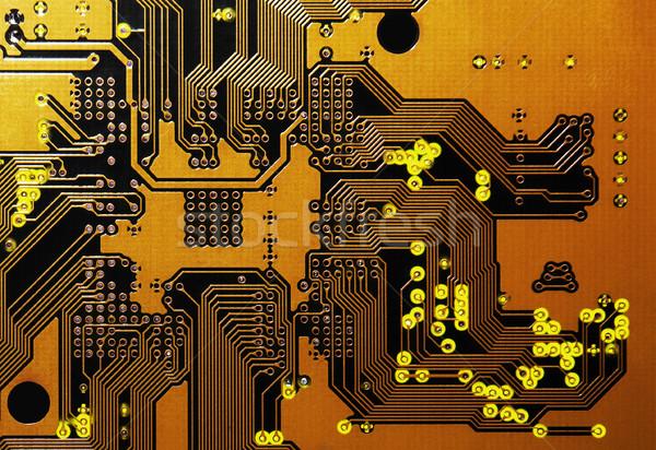 Orange Circuit Board Stock photo © sqback
