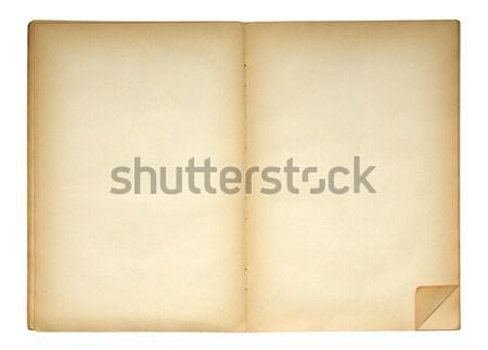 Abierto edad libro cuaderno vintage Foto stock © sqback