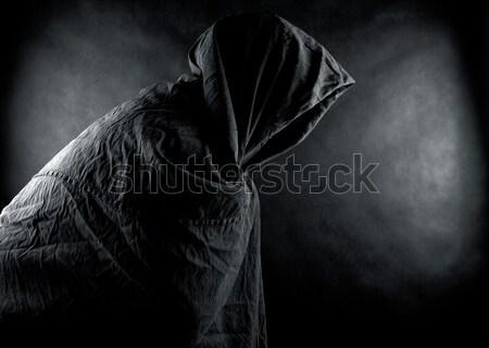Figura oscuro hombre tela sombra diablo Foto stock © sqback