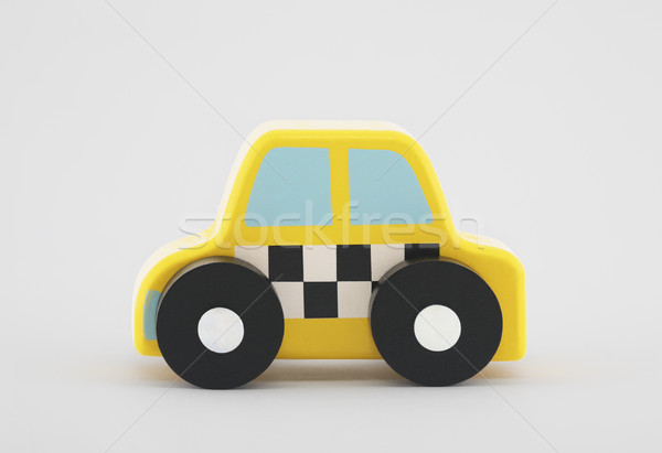 Small wooden taxi car Stock photo © sqback