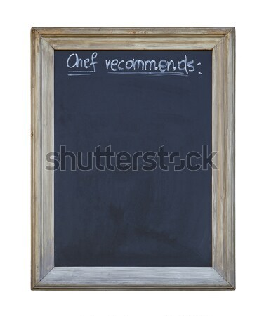 Chef recommends chalkboard with clipping path Stock photo © sqback