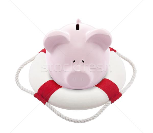 Poupança ajudar piggy bank banco brinquedo vida Foto stock © sqback
