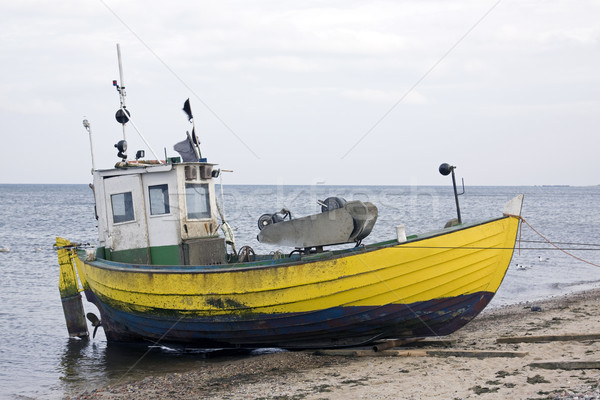 Pescador barco agua naturaleza mar buque Foto stock © sqback