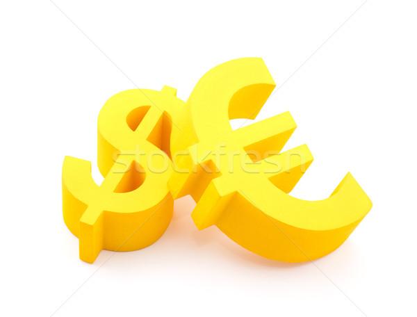 Euro dollaro valuta simboli business segno Foto d'archivio © sqback