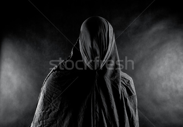 Spook donkere dood silhouet dode angst Stockfoto © sqback