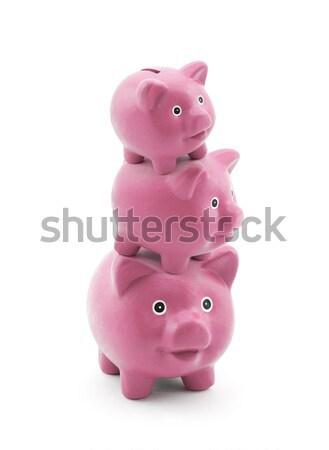 Stack of pink piggy banks  Stock photo © sqback