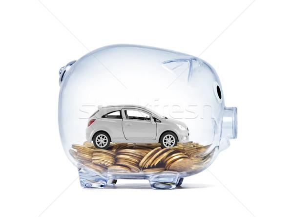車 ミニチュア お金 透明な 貯金 ストックフォト © sqback