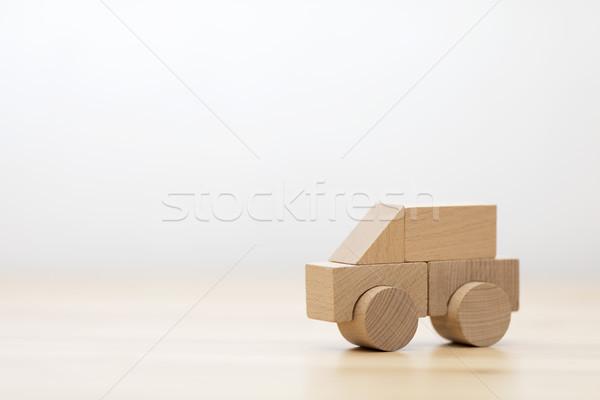 Klein houten speelgoed auto hout kind model Stockfoto © sqback