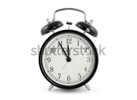 Negro edad estilo despertador metal Foto stock © sqback