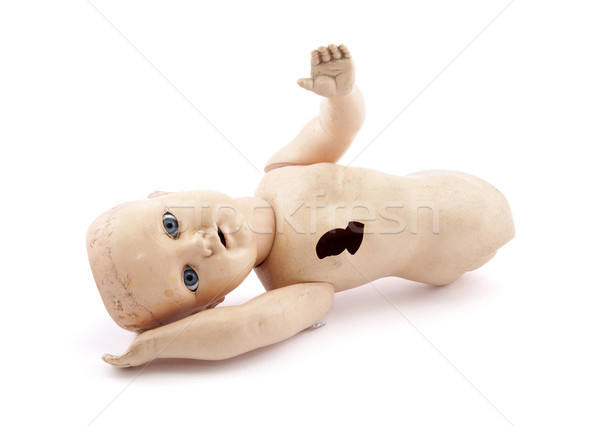 Abandoned child's baby doll with clipping path Stock photo © sqback