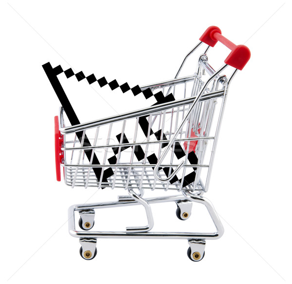 Internet shopping. Clipping path included. Stock photo © sqback