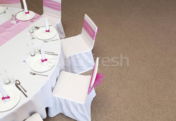 Boda mesa fiesta hotel servicio matrimonio Foto stock © sqback