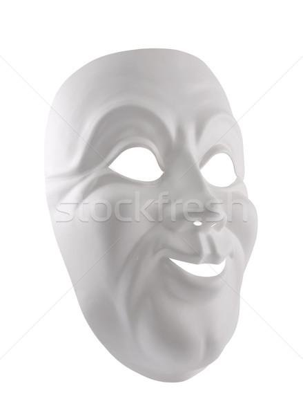 Biały maska odizolowany uśmiech teatr Zdjęcia stock © sqback