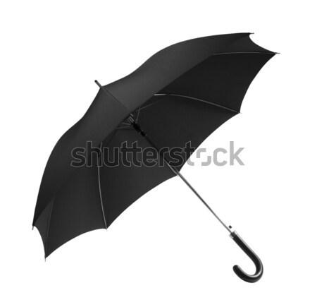 Negro paraguas lluvia vintage seguridad Foto stock © sqback