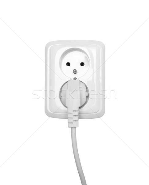 Electric outlet isolated on white Stock photo © sqback