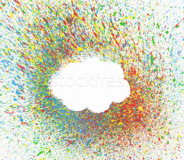 Cloud shape over background with colorful splashes  Stock photo © sqback