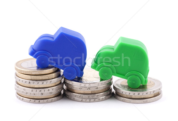 Euro coins and cars Stock photo © sqback