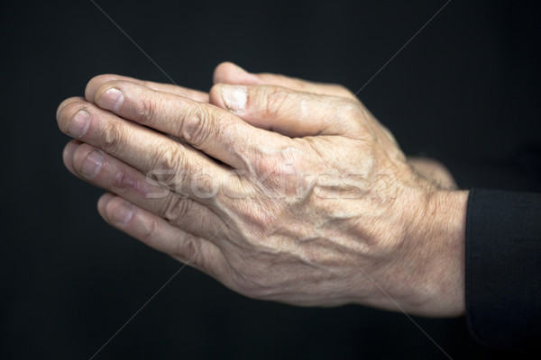 Old hands praying Stock photo © sqback