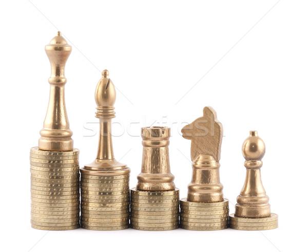 Inwestycja strategii szachy finansów przyszłości sukces Zdjęcia stock © sqback