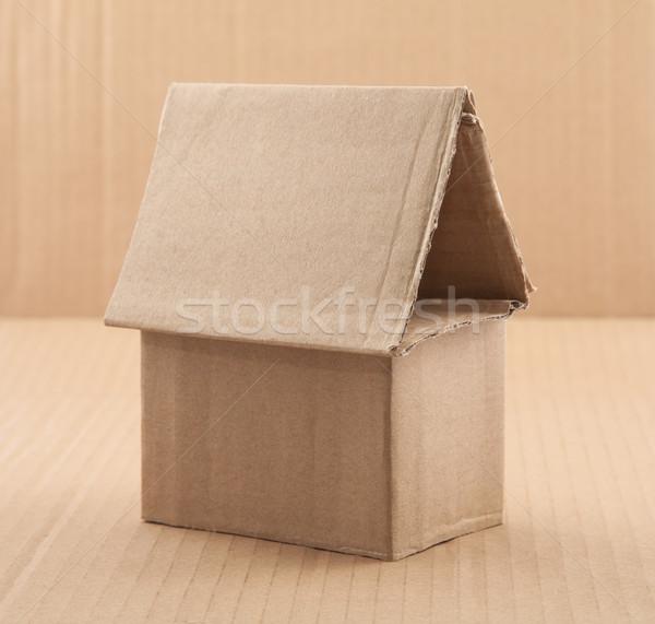 Karton ev inşaat geri dönüşüm paket kulübe Stok fotoğraf © sqback