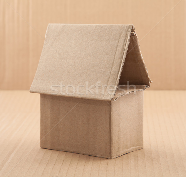 Cardboard House Stock photo © sqback