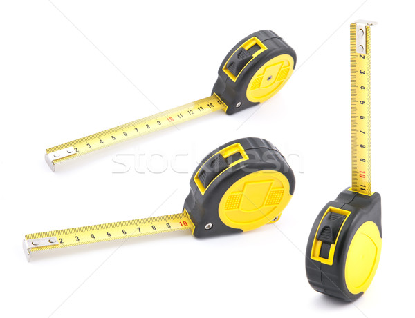 Yellow tape measure with soft shadow Stock photo © sqback
