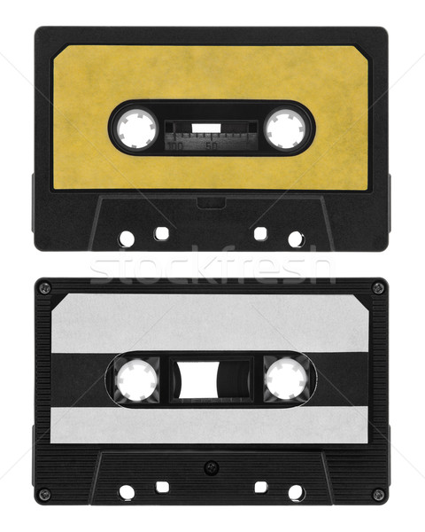 Old cassette tape isolated on white Stock photo © sqback