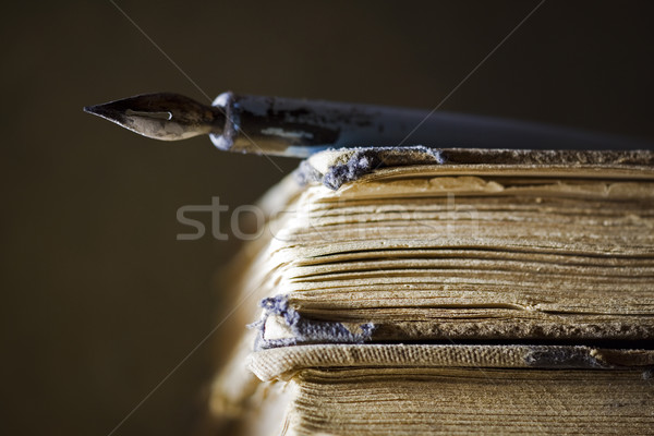 Old books and pen Stock photo © sqback