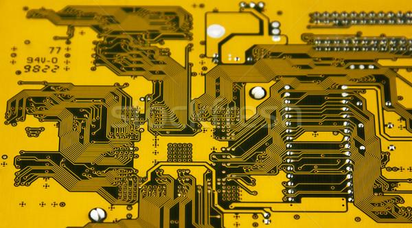 Sarı devre kartı soyut bilim dijital kart Stok fotoğraf © sqback