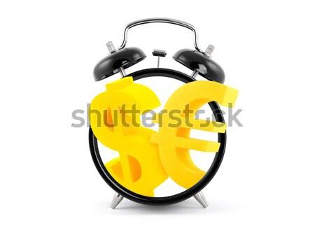 Az idő pénz ébresztőóra arany dollár szimbólumok pénz Stock fotó © sqback