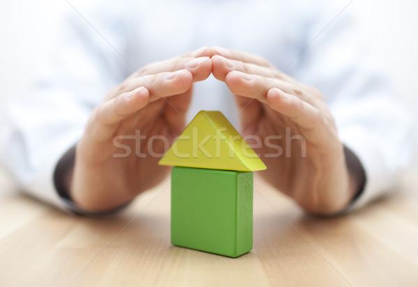 Photo stock: Maison · mains · homme · construction · modèle