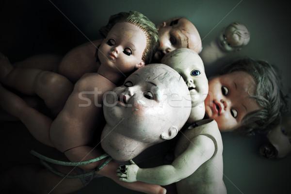 ürpertici oyuncak bebekler su çocuk Retro karanlık Stok fotoğraf © sqback